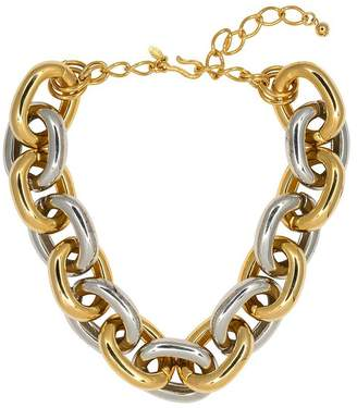 Gold Silver Medium Link Necklace