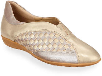 1802a775c78 Sesto Meucci Barabel Woven Metallic Loafer Flats