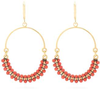 Isabel Marant Perky beaded hoop earrings