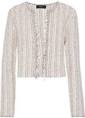 Theory Galinne Frayed Bouclé-Tweed Jacket