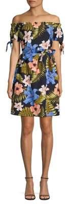 Vero Moda Floral Off-The-Shoulder A-Line Dress