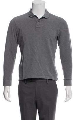 Moncler Piqué Long Sleeve Polo Shirt