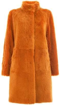 Drome reversible band collar coat