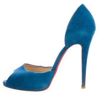 Christian Louboutin Christian Louboutin Suede d'Orsay Pumps