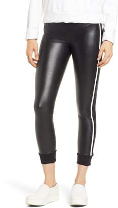 David Lerner Keily Cuffed Faux Leather Leggings