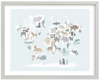 Pottery Barn Kids Wild World Map Wall Art by Minted