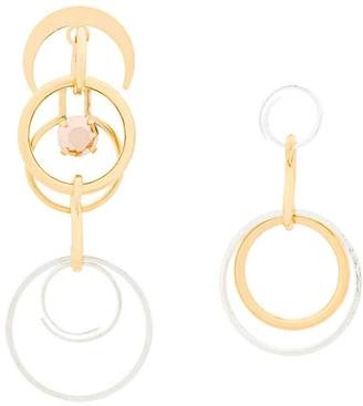 Wouters & Hendrix Technofossils mismatched earrings