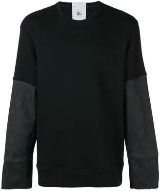 Lost & Found Rooms denim cuff sweater