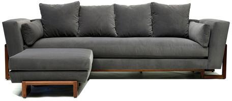 Artless LRG Sofa & Ottoman Gray