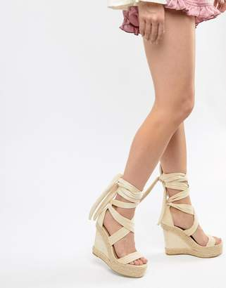 PrettyLittleThing Wedge Espadrille Sandals