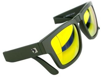 LEN Bobster Brix Folding Sunglasses Matte Olive Frame/Orange