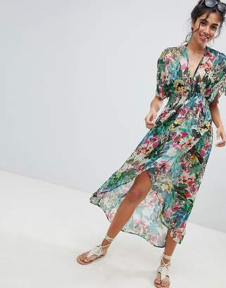 Matthew Williamson MW By Jungle Print Maxi Caftan