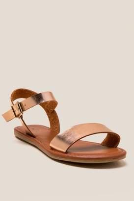 Mia Tia Wide Strap Sandal - Rose/Gold