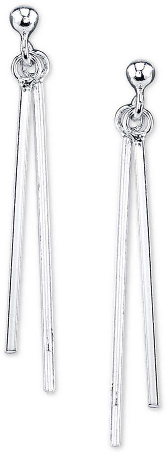 Unwritten Sterling Silver Stick Linear Drop Earrings