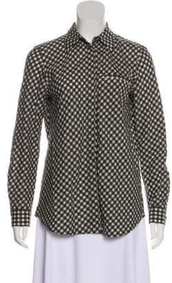Lafayette 148 Gingham Button-Up Top