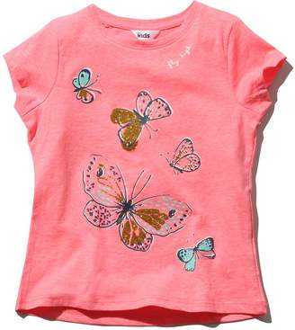 M&Co Butterfly print t-shirt