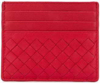 Bottega Veneta China red nappa card case