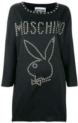 Moschino Playboy studded mini dress