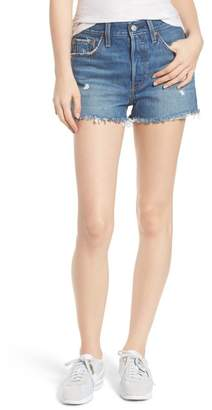 Levi's 501(R) High Waist Cutoff Denim Shorts (Drive Me Crazy)