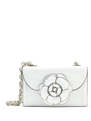 Oscar de la Renta White Leather TRO Bag