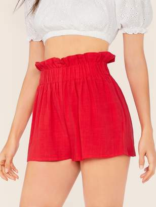 Shein Ruffle Elastic Waist Shorts