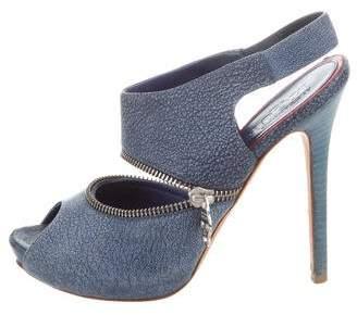 Alexander McQueen Zipper-Trimmed Platform Sandals