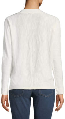 Lilla P V-Neck Long-Sleeve Slub Tee