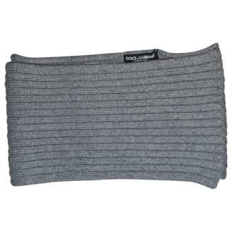 Dolce & Gabbana Grey Wool Scarves