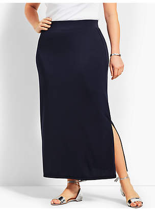 Talbots Plus Size Exclusive Knit Jersey Maxi Skirt