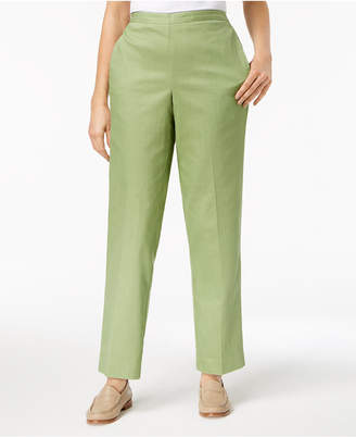 Alfred Dunner Flat Front Pull-On Pants