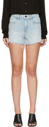 Alexander Wang Blue Denim Bite Shorts
