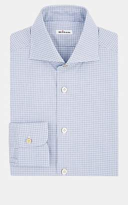 Kiton Men's Checked Cotton Dress Shirt - Dk. Blue