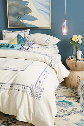 Anthropologie Embroidered Timaru Duvet Cover