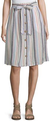 A.N.A Soft Womens Mid Rise Midi A-Line Skirt