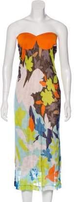Missoni Abstract Print Knit Dress Orange Abstract Print Knit Dress