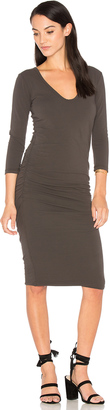 James Perse V Neck Skinny Dress $225 thestylecure.com