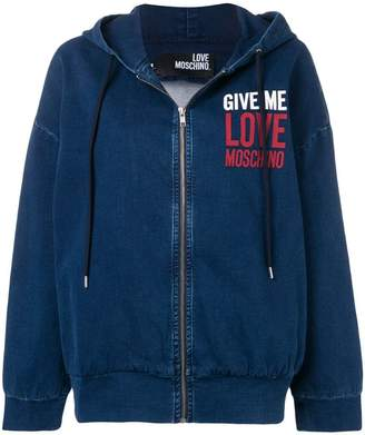 Love Moschino hooded denim jacket