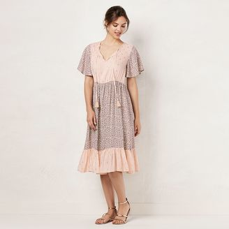 Women's LC Lauren Conrad Mix Print Midi Dress $64 thestylecure.com