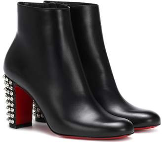 0ccded8d9e30 Christian Louboutin Black Leather Sole Boots For Women - ShopStyle ...