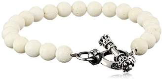 King Baby Studio Men's Toggle Clasp Coral Bracelet