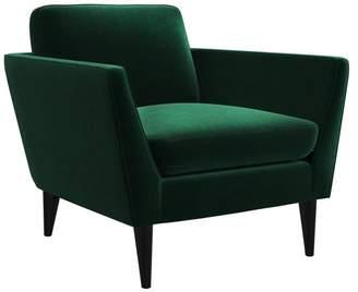 M.O.D. Jacinth Blue Velvet Armchair