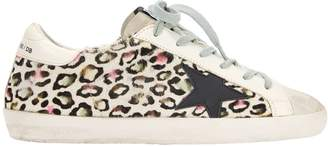 Golden Goose Superstar Multicolor Animal Print Sneakers