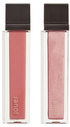 Jouer Melon & Citronade Rose Long-Wear Lip Creme Liquid Lipstick Duo - No Color $25 thestylecure.com