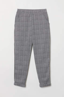 H&M Ankle-length Pull-on Pants - White