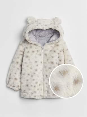Gap Leopard Cozy Hoodie Jacket