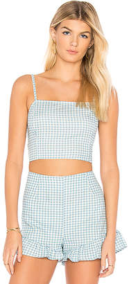 MinkPink Toto Gingham Top