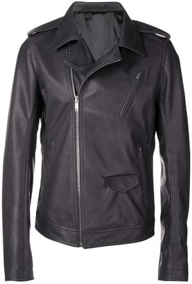 Rick Owens slim-fit biker jacket