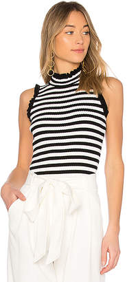 Milly Ruffle Edge Rib Shell Top