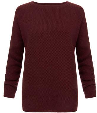 Goat Alice Damson Burgundy Textured-Knit Cashmere Sweater