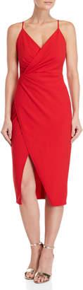 Betsey Johnson Faux Wrap V-Neck Dress